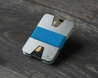 Men's wallet, aluminum wallet, credit card holder, metal wallet, slim wallet, modern design wallet, X wallet, Elephant Wallet