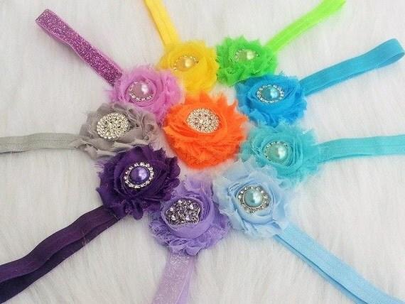 items similar to choose 4 headbands shabby chic headband items similar to choose 4 headbands shabby chic headband
