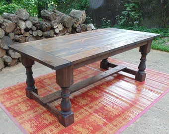 Talbot Dining Table  Farmhouse  Reclaimed Wood  Custom  Handcrafted   Handmade  MadeDining Table Farmhouse Reclaimed Wood Custom Handcrafted. Farmhouse Dining Table Made In Usa. Home Design Ideas
