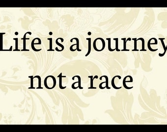 Sign Plaque { Life is a journey not a race } quote gift rustic wall art primitive home decor unique