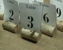 100 Birch Bark Rustic Table Number, Wedding Table Numbers, Holiday Dinner Rustic  Christmas decor