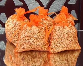 Valencia Vanilla Scented Sachets (Set of 5) * Wedding Favor * Gift * Potpourri Sachet * Vanilla Citrus Sachets