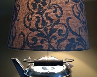 Antique Revere Chrome Teapot Lamp