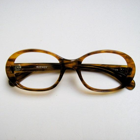 Vintage Eyeglass Frames New Old Stock : VINTAGE EYEGLASSES: New Old Stock 1970s Butterscotch