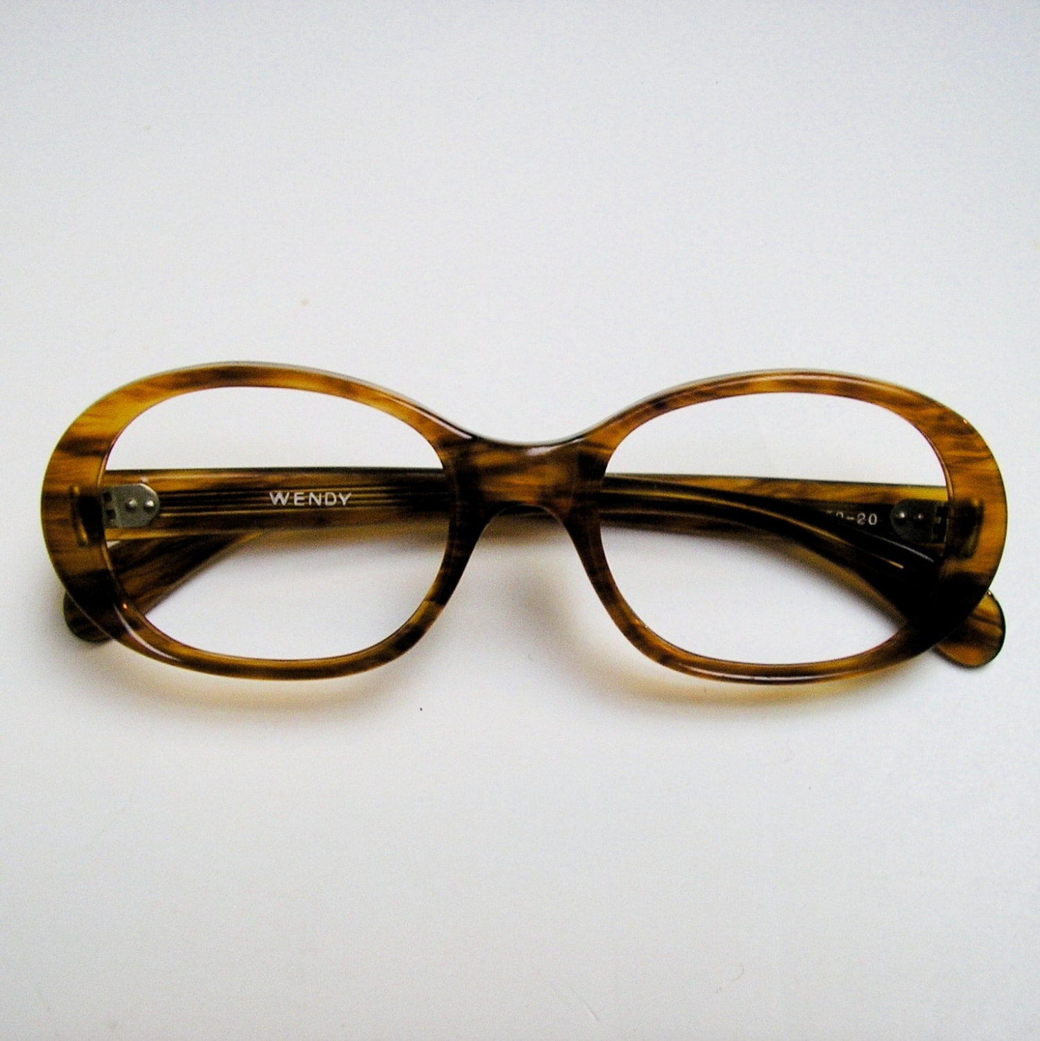Old Eyeglass Frames New Lenses : VINTAGE EYEGLASSES: New Old Stock 1970s Butterscotch