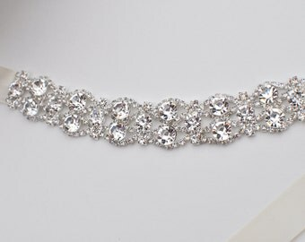 Crystal bracelet, Bridal bracelet, Bridesmaid gift, bridesmaid bracelet, Wedding bracelet, bracelet, bridal accessory, wedding, accessory