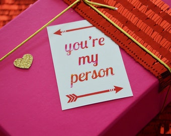 Valentine's Day Favour / Gift Tags - INSTANT DOWNLOAD