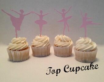 Ballerina Cupcake Toppers -12