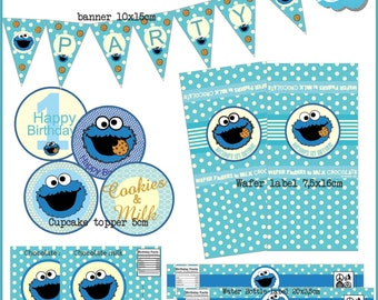 Cookie Monster Party Kit