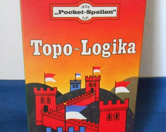 Vintage Dutch Board Game (Pocket Game): 'Topo-Logika'