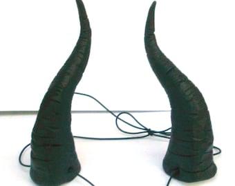 Maleficent Horns, Dragon, Maleficent Headpiece, Bull Horns, Big, Headband Demon Horn Head dressLightweight  Costume, Black Cosplay, Costume,
