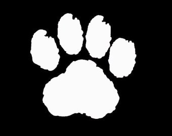 "CAT Paw Print 3.5"" Vinyl Decal Window Sticker for Car, Truck, Motorcycle, Laptop, Ipad, Window, Wall, ETC"