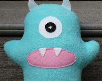 Stuffed Monster Custom Made Blue Plush Monster