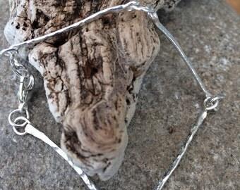 "Gorgeous ""Twigs"" Solid Silver Bracelet"