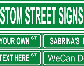 Custom Street Signs, You Pick the Text!