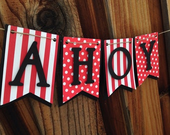Ahoy Matey! Pirate banner, happy birthday banner