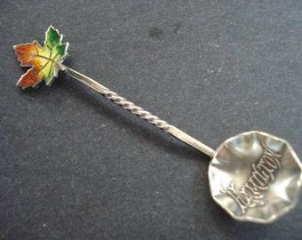 Gorgeous   Vintage Tiny STERLING SALT SPOON  - Salt Cellar Spoon - Signed Hsmilton