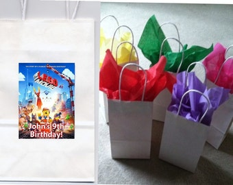 Lego Movie party favor goody bags personalized set of 10