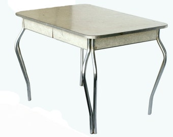 mid century formica kitchen table with chrome legs - Chrome Kitchen Table