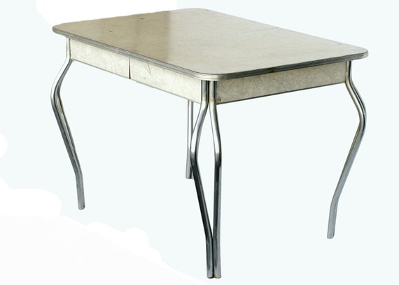 Items Similar To Mid Century Formica Kitchen Table With Chrome Legs On Etsy