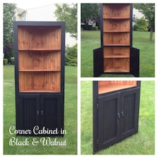 Corner Cabinet With Doors And Shelves