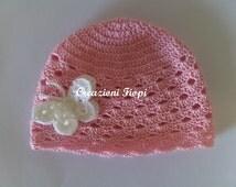 Crochet Summer hat baby pattern, crochet hat butterfly, crochet baby girl hat,crochet hat girl pattern, newborn hat pattern, crochet pattern