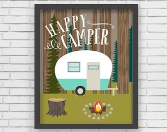 Home Decor Camping Wall Art