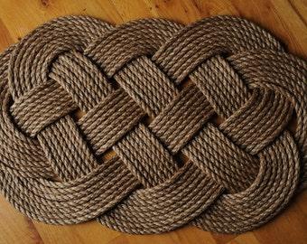 Ocean Plait Rope Rug/Mat (33 x 20)