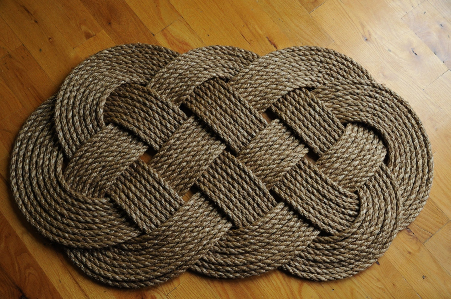 Nautical decor manila rope rug rope mat front door rug for Rope carpet