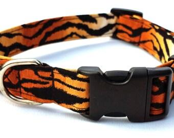 Dog Collar - Tiger Print Dog Collar
