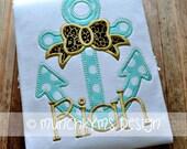 Anchor Bow Applique
