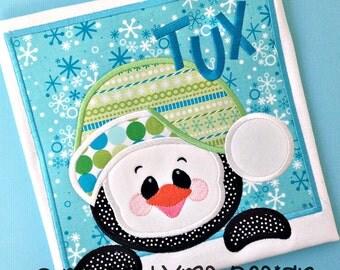 Santa Penguin Box Applique