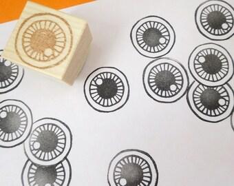 Eyeball Rubber Stamp, Japanese stationery, Unique gift wrapping paper, Halloween decoration, Kyary Pamyu Pamyu, Harajuku style, Kawaii stamp