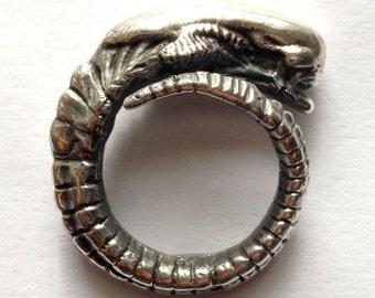 Alien Chest Burster Ring Sterling Silver