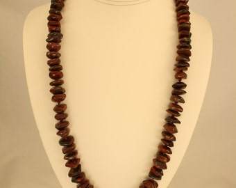Pigeon Blood Agate Necklace