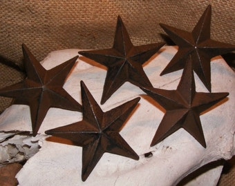 Cast Iron Star Nail Set of 5 Garden Country Rustic Decor Western Primitive #121