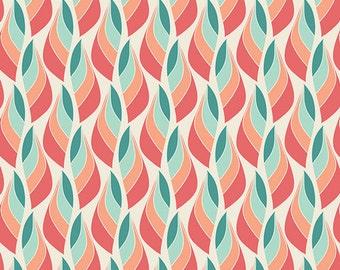 One Yard - 1 Yard of Metamorphosis Coral  - Winged by Bonnie Christine for Art Gallery