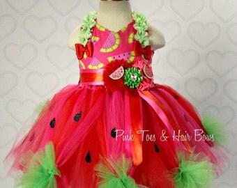 Watermelon tutu dress- Watermelon Pageant dress- Watermelon Costume