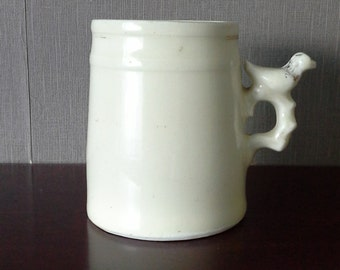 victorian whistling mug with bird detail