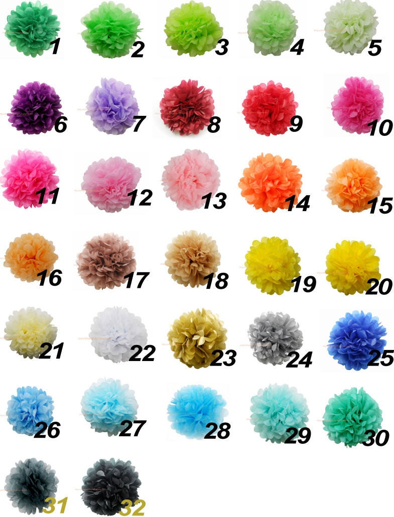 20 tissue paper pom poms decoration hanging pom poms choose