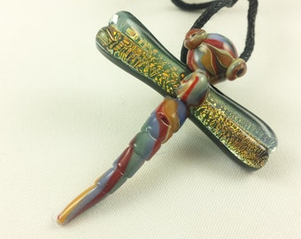 Dragonfly - Glass Pendant Necklace