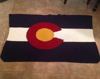 Colorado Flag Crochet Afghan Blanket Pattern