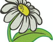 Daisy Applique and fill Machine Embroidery