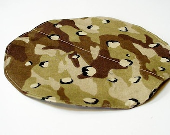 Round Hard Hat Cooling Pad, Helmet Ball Cap Head Polymer Gel Cooler, Desert Tan Mudding Camouflage Cool Pack iycbrand