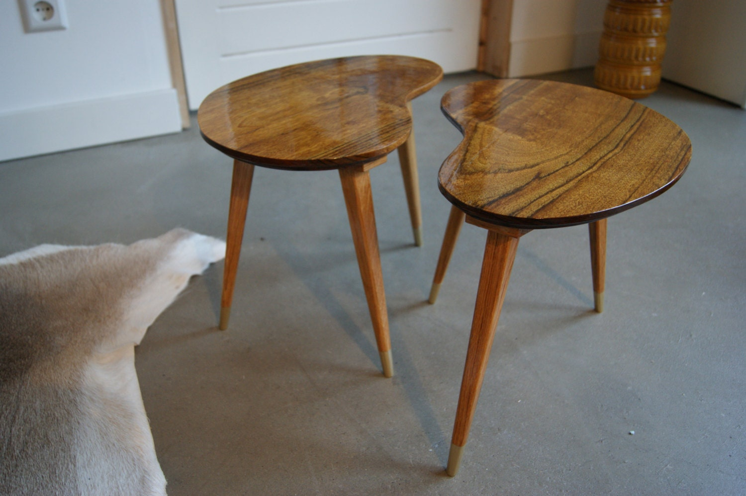 Kidney Bean Shaped Coffee Tables Set