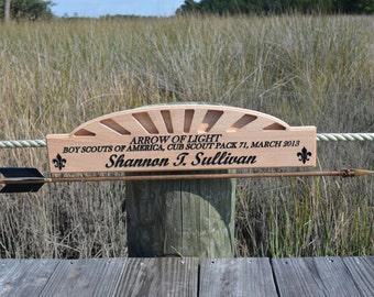 Arrow of light cub scout award plaque
