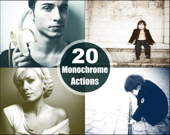 Monochrome Photoshop Elements Actions