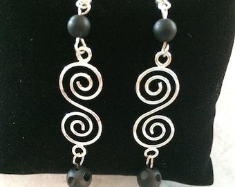 Women's Double Swirl Earrings