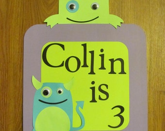 Monster Welcome Party Sign - Birthday Party - Personalized
