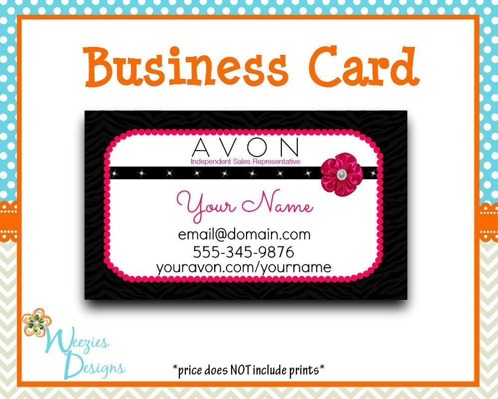 Avon Business Card Direct Sales Marketing by WeeziesDesigns